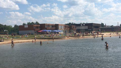 Kolmapäeva pärastlõunal oli Võrus Tamula rannas üle 300 palava ilma nautija.
