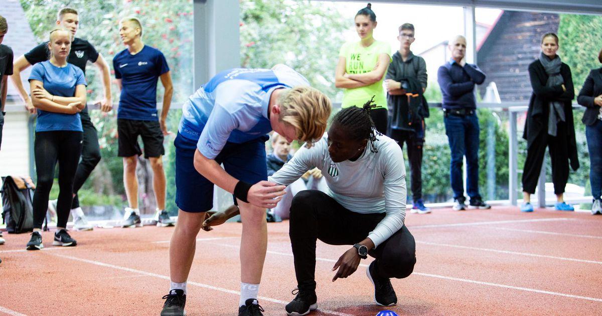 Galerii: maailma tippsprinteri treening pani noorte pärnakate silmad särama