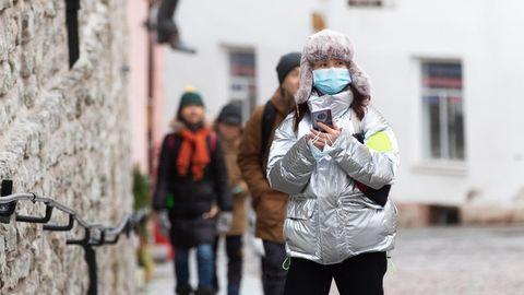 Hiina turistid Tallinnas.