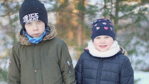 11-aastane Elari Markus ja 7-aastane Amy.