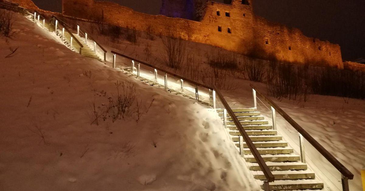 Vallimäele viivad trepid saavad valgustuse
