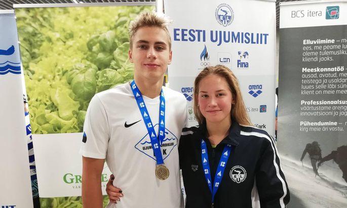 bb5b6c48561 Ujumise Spordiklubi ridades võistelnud Alex Ahtiainenil ja Brita  Rannametsal läksid võistlused korda.