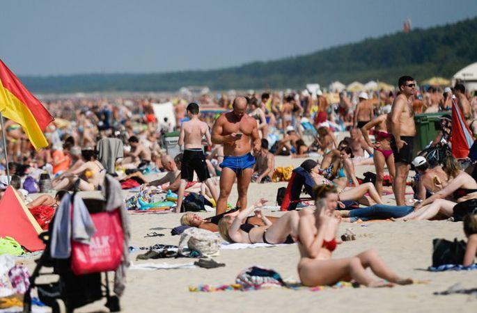 Жаркий день на пляже