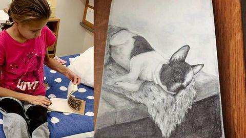 Haiglaravil viibiv Katerina pani oksjonile pildi oma sõbrast, koerast.