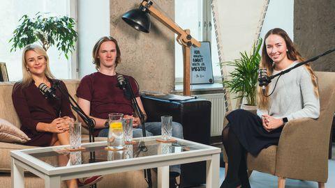 Paremalt toitumisnõustaja ja -terapeut Elis Nikolai, noor fotograafia- ja filmindushuviline Ott Kattel ja Teeviit tulevikku taskuhäälingu saatejuht Kristina Laurits.