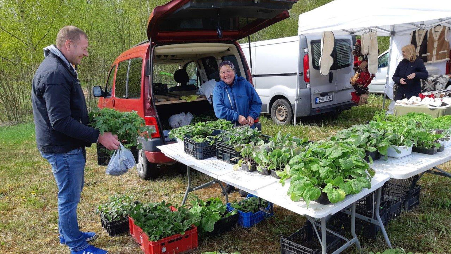 Esimene Ihamaru taluturg tõi letti kohalikud tooted: