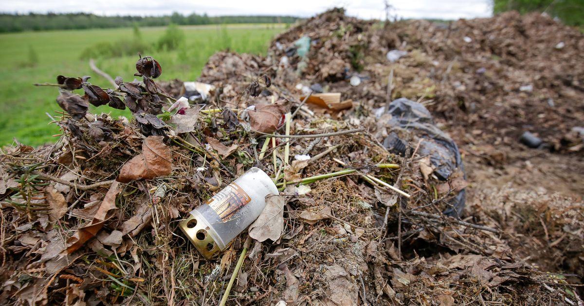 Nagu prügimägi: Sillaotsa kalmistul käijad loobivad kõik jäätmed läbisegi lehehunnikusse